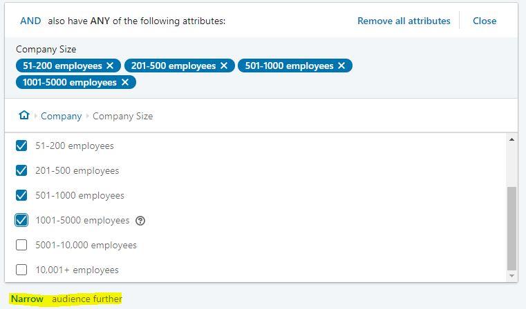 linkedin company size