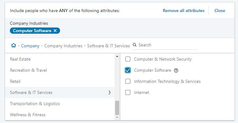 linkedin computer software industry
