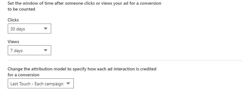 linkedin conversion settings
